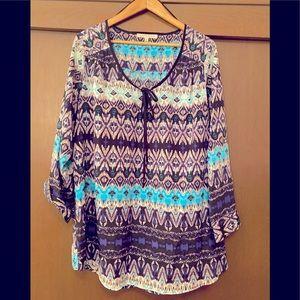 Flowy multi-color blouse
